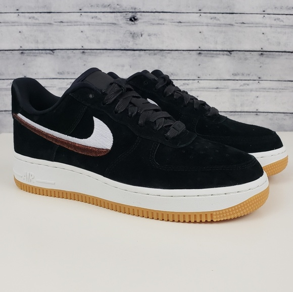 new arrivals 285ed 721ee Nike   Air Force 1  07 Lux Black Suede, Gum, White